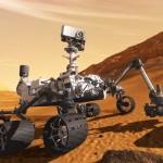 Ruimterobot Curiosity op Mars