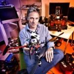 Een vliegende robot ontwikkeld in de Australische University of Technology (QUT) door professor Peter Corke