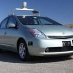 De autonomous auto (een Toyota Prius) van Google