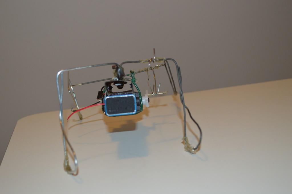 Robot bouwen: Osci robot gezien vanuit de achterkant